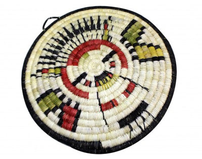 "Load image into Gallery viewer, Regina Kagenvema, Hopi Coil Plaque, Figure, 11 3/4"" diameter"