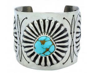 Arland Ben, Bracelet, Royal Blue Royston Turquoise, Revival, Navajo Made, 7.25in
