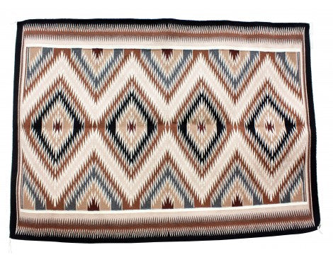 Theresa Begay, Eye Dazzler Rug, Navajo Handwoven, 51 in x 70 in