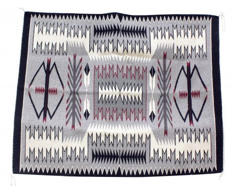 Theresa Begay, Storm Rug, Navajo Handwoven, 47 in x 37 in