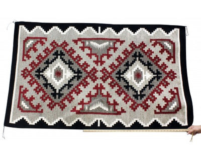 Load image into Gallery viewer, Maggie Elthel, Ganado Rug, Navajo Handwoven, 62 in x 36 in