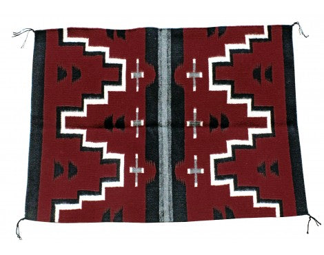 Janet Begay, Cheif Pattern Rug, Navajo Handwoven, 29 in x 32 in