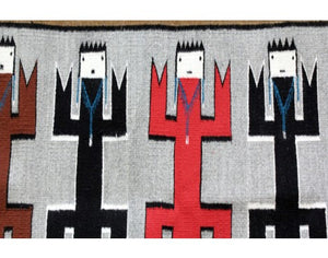 Anna Gray, Yei Rug, Navajo Handwoven, 48 in x 35 in
