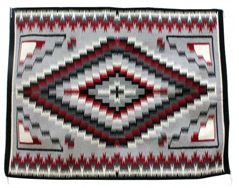 Theresa Begay, Eye Dazzler Rug, Navajo Handwoven, 71'' x 55''
