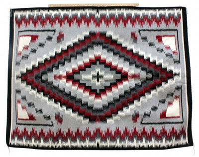 Load image into Gallery viewer, Theresa Begay, Eye Dazzler Rug, Navajo Handwoven, 71'' x 55''