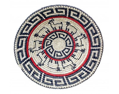 Load image into Gallery viewer, Peggy Black, Way of Life Basket, Navajo Handmade, 17.25 in x 17.25 in