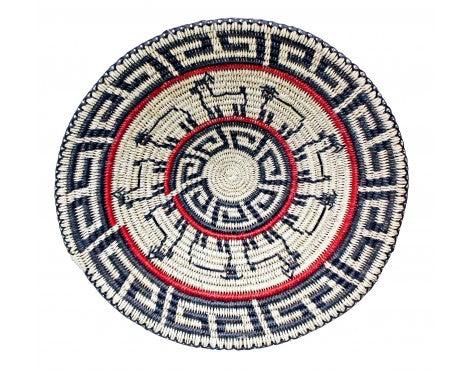Peggy Black, Way of Life Basket, Navajo Handmade, 17.25 in x 17.25 in