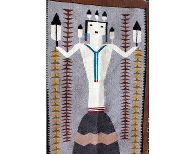 Load image into Gallery viewer, Wenora Joe, Large Yei, Navajo, Handwoven Rug, 73'' x 34 1/2''