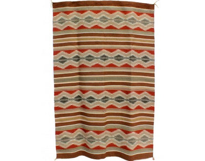"Load image into Gallery viewer, Marlynn Francis, Wide Ruins Rug, Navajo Handwoven, 32 1/2"" x 44 1/2"""