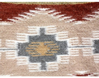 "Load image into Gallery viewer, Erma Francis, Wide Ruins, Navajo Hand Woven, 32"" x 42 1/2"""