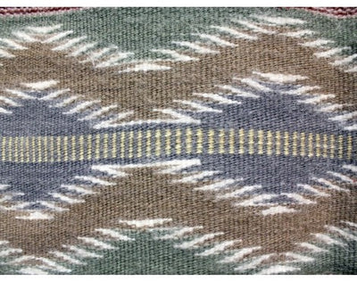 "Load image into Gallery viewer, Erma Francis, Wide Ruins, Navajo Rug Handwoven, 32"" x 44 1/2"""