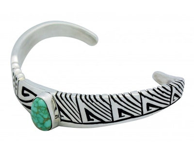 Load image into Gallery viewer, Kary Begay, Bracelet, Carico Lake Turquoise, Silver, Navajo Handmade, 6.5 in