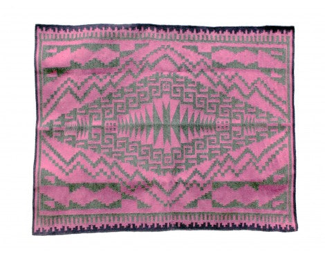 Harriet Tyler, Purple Two Grey Hills Rug, Navajo Handwoven,  43