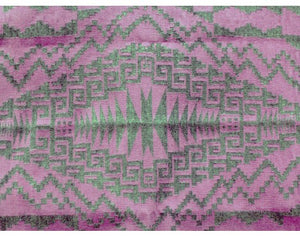 "Harriet Tyler, Purple Two Grey Hills Rug, Navajo Handwoven,  43""x 57"""