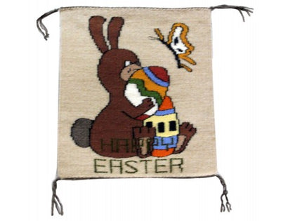 Load image into Gallery viewer, Gloria Begay, Easter Bunny Rug, Navajo Handwoven, 16.75in x 15in