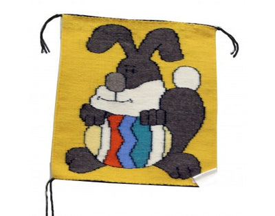 Load image into Gallery viewer, Gloria Begay, Easter Bunny Rug, Navajo Handwoven, 16in x 15in