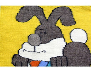 Gloria Begay, Easter Bunny Rug, Navajo Handwoven, 16in x 15in