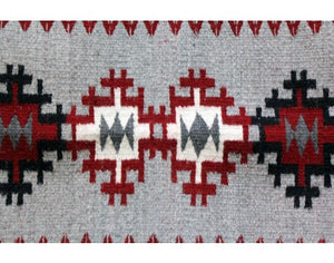 Lucy Wilson, Saddle Blanket, Two Faced, Navajo Handwoven, 29in x 19in