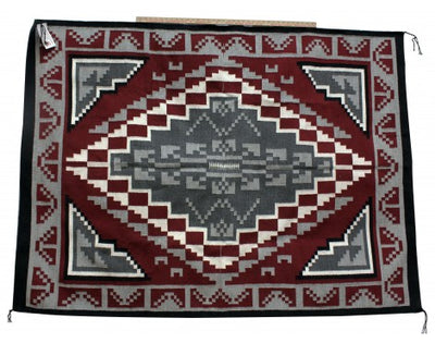 Load image into Gallery viewer, Charlene Begay, Ganado Red Rug, Navajo Handwoven, 77in x 56in