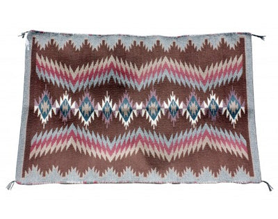 Load image into Gallery viewer, Lucy Wilson, Saddle Blanket, Two Faced, Navajo Handwoven, 30 in x 44 in