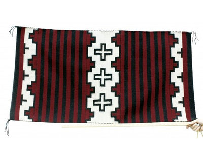 Load image into Gallery viewer, Bernyce Largo, Cheif Rug, Navajo Handwoven, 26.5 in x 50 in