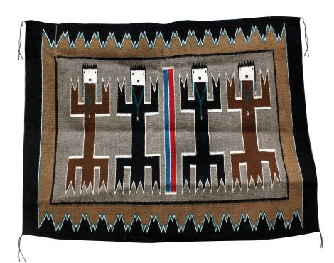 Anna Gray, Yei Rug, Navajo Handwoven, 36 in x 48 in
