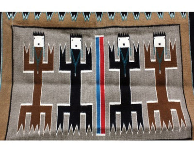 Load image into Gallery viewer, Anna Gray, Yei Rug, Navajo Handwoven, 36 in x 48 in