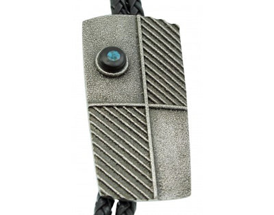 Load image into Gallery viewer, Darryl Dean Begay, Bolo Tie, The Face, Lone Mountain Turquoise, Navajo Made, 44