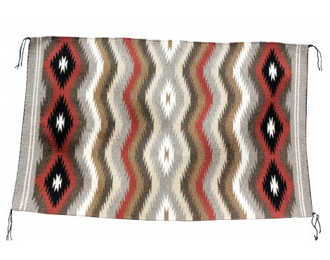 Shirley Antonie, Eye Dazzler Rug, Navajo Handwoven, 27in x 43in