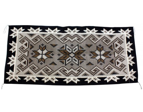 Maggie Elthel, Two Grey Hills Rug, Navajo Handwoven, 78.5in x 35.5in
