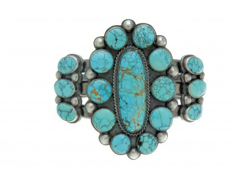 Michael Schmaltz, Big Number Eight Turquoise Cluster Cuff