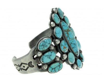 Load image into Gallery viewer, Michael Schmaltz, Big Number Eight Turquoise Cluster Cuff