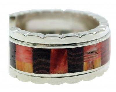 Load image into Gallery viewer, Melvin Francis, Eugene Chee, Cuff, Spiny Oyster Shell, Heavy, Silver,Navajo,6.75