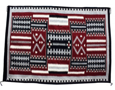 Load image into Gallery viewer, Cleo Johnson, Storm Pattern Rug, Navajo Handwoven, 92 in x 65.5 in