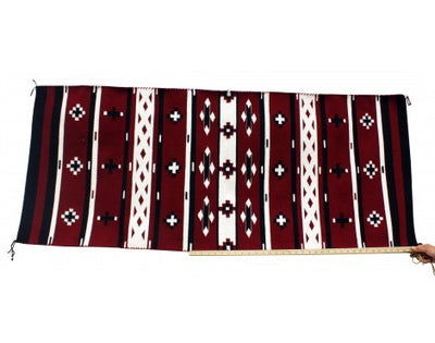 Load image into Gallery viewer, Bessie Yazzie, Cheif Rug, Navajo Handwoven, 26 in x 62 in