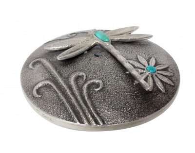 Load image into Gallery viewer, Darryl Dean Begay, Seed Pot, Tufa Cast Art, Turquoise, Dragonfly, Navajo, 1.5in