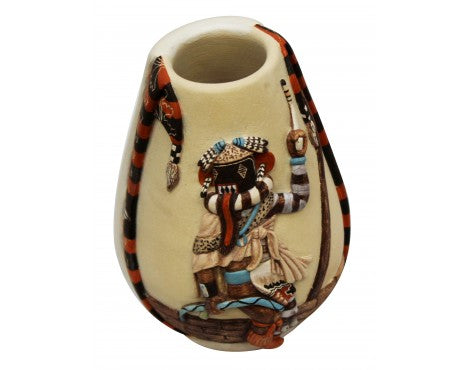 Harrison Jim, Hopi Design Pottery, Handmade, 5 in x 3.75 in