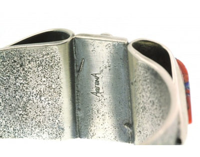 Load image into Gallery viewer, Aaron Anderson, Tufa Cast Bracelet, Contemporary Fold Over, Inlay