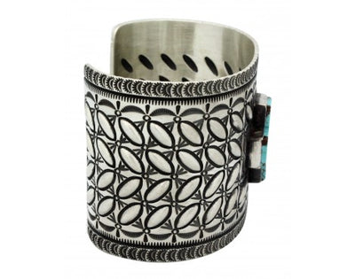 Load image into Gallery viewer, Herman Smith, Bracelet, Four Direction, Sterling Silver, Navajo Handmade, 7.25in
