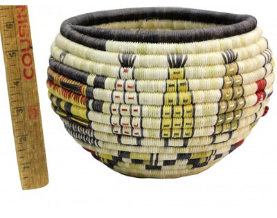 Load image into Gallery viewer, Tressa Kagenveama, Hopi Coil Basket, Corn Maidens, 8 1/2' x 6""