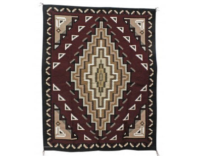 Load image into Gallery viewer, Margie Elwood, Red Two Grey Hills Rug, Navajo Handwoven, 64 in x 51 in