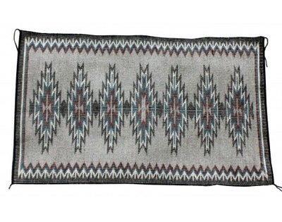 Load image into Gallery viewer, Mary Begay, New Lands Rug, Rasid Outline, Navajo Handwove, 23 in x 38.25 in