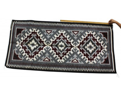 Load image into Gallery viewer, Maggie Elthel, Ganado Rug, Navajo Handwoven, 69 in x 33 in