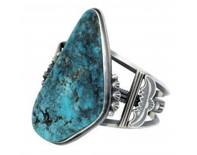 Load image into Gallery viewer, Freddie Maloney, Bracelet, Kingman Turquoise, Harry Morgan Style, Navajo, 6.75in
