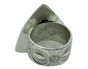 Jay Livingston, Ring, Indian Mountain Turqouise, Sterling Silver, Navajo, 7