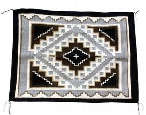 Mareitta Begaye, Two Grey Hills, Navajo Handwoven Rug, 30in x 40in