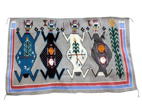 Winnie Yazzie, Mother Earth, Father Sky, Navajo Rug, Handmade, 63in x 48in