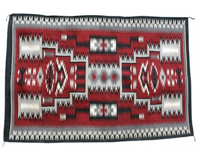 Load image into Gallery viewer, Camela Begay, Red Storm Pattern Rug, Navajo Handwoven, 48in x 72in
