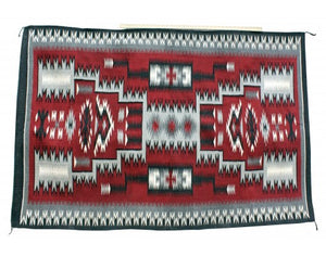 Camela Begay, Red Storm Pattern Rug, Navajo Handwoven, 48in x 72in