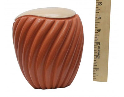 Load image into Gallery viewer, Emma Yepa, Jemez, Pueblo Swirl Pottery, Contemporary, Jar, 6in x 5.25in